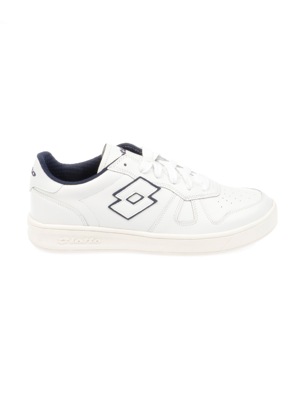 LOTTO Men's Shoes Laced White Leather