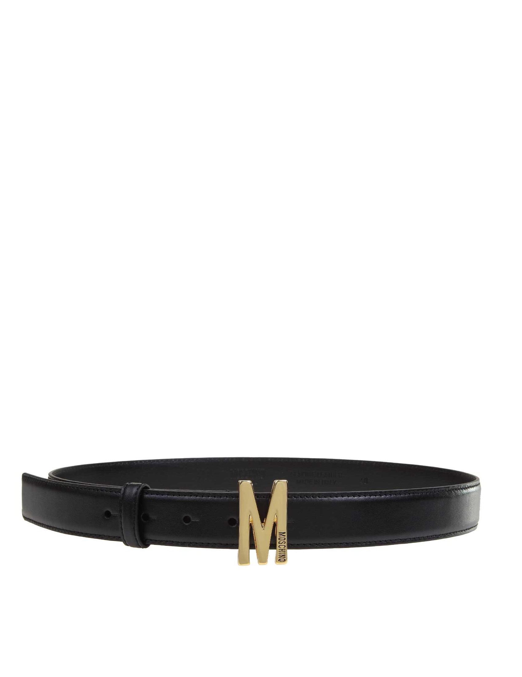 Details about MOSCHINO Men's Belts Black NIB Authentic