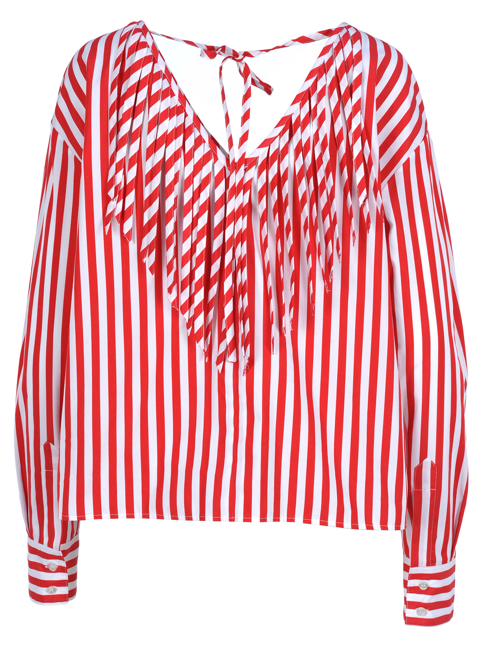 b7d3df3ff2c64b Msgm Women's Clothing Tops - MDM35111 | Made in Italy | Red White | eBay